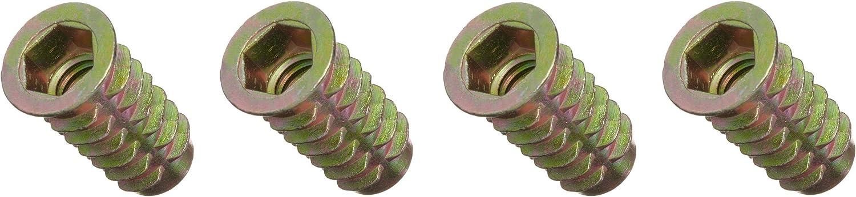 3//8-16 Internal Threads Zinc E-Z Lok Threaded Insert Pack of 25 25mm Length Fоur Расk Hex-Flanged