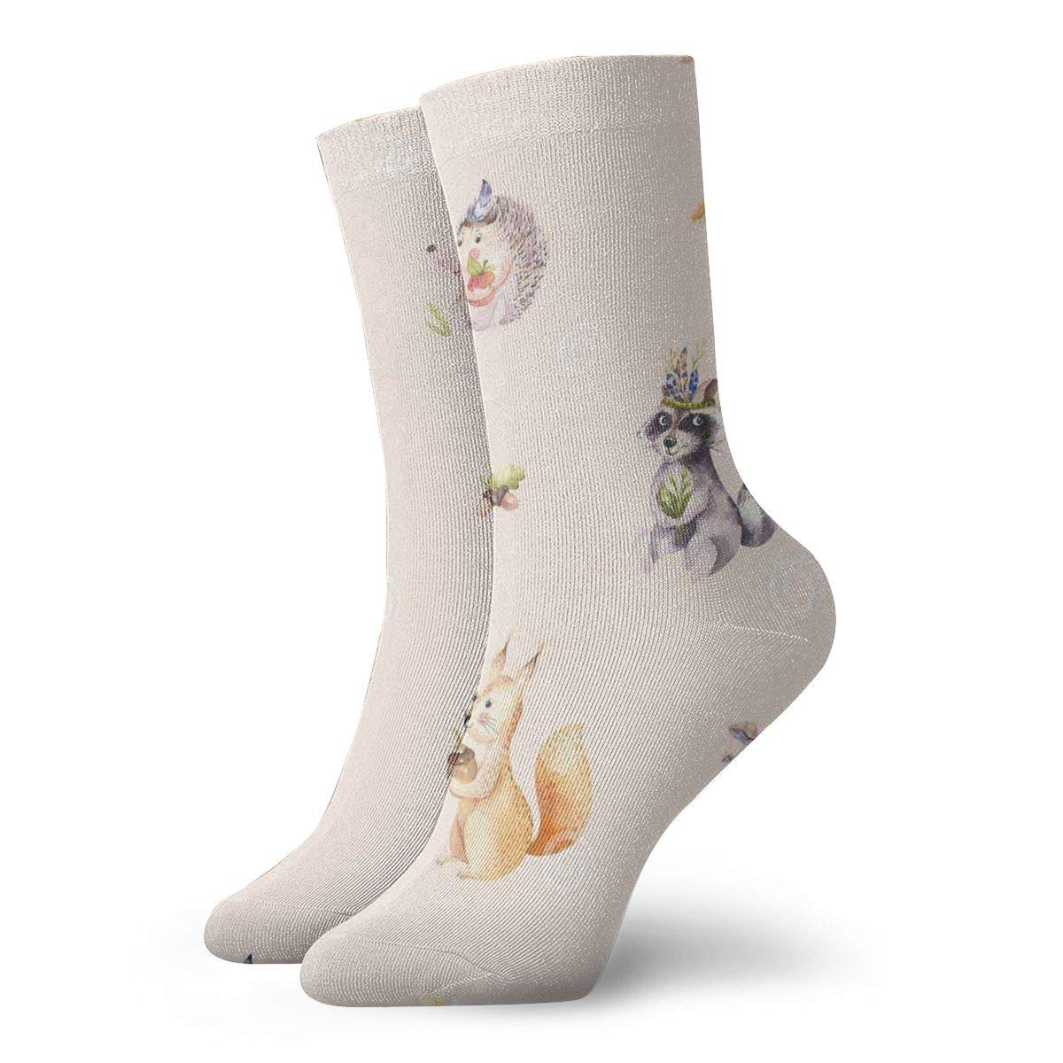 Cute Baby French Bulldog Pattern Casual Cotton Socks Unisex Sports Socks.