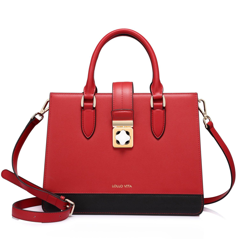 Designer Leather Handbags for Women Structured Fashion Ladies Shoulder Bag Crossbody Purse