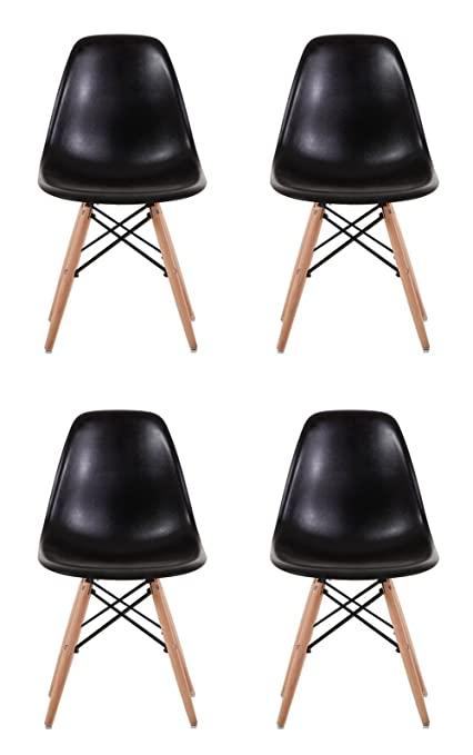C Creation Yusheng Eames Style Dining Chair With Natural Eiffel Base Wooden  Leg Modern Plastic Side