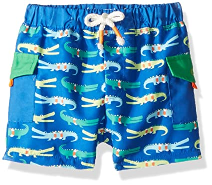 f2d4e07b9a Amazon.com: Mud Pie Baby Boys' Alligator Swim Trunks: Clothing