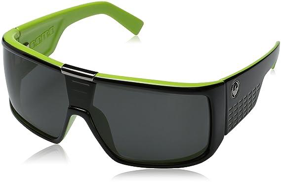 b08792f8507 Dragon Alliance Domo Sunglasses (Jet Lime with Grey Lens)  Amazon.co ...