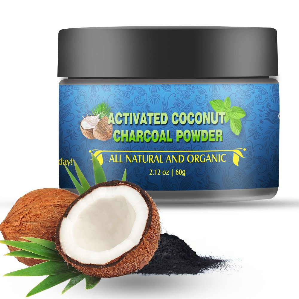 Teeth Whitening Charcoal Powder, BIG HOUSE Charcoal Toothpaste, Natural Coconut Activated Charcoal - Refresh Breath - Remove Coffee and Tea Stains, Mint Flavor(2.12OZ)