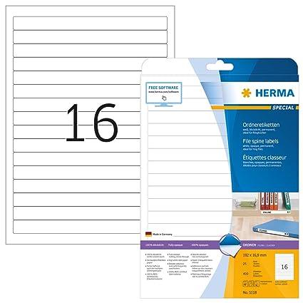 Herma 5118 - Paquete de 400 etiquetas adhesivas ...