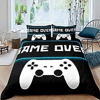 Erosebridal Kids Games Duvet Cover Twin Size, Cartoon Gaming Comforter Cover Gamer Gamepad Bedding Set for Girls Boys…