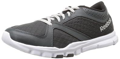 reebok yourflex trainette. reebok women\u0027s yourflex trainette 7.0 lmt training shoe, gravel/black/white/steel
