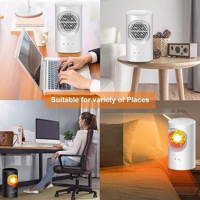 Calefactor de bajo consumo, con protección contra ...