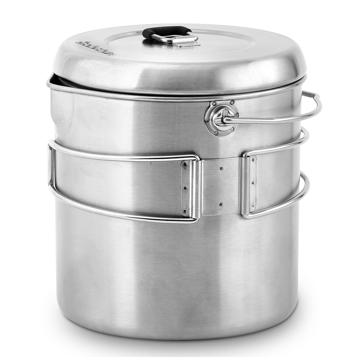 Solo Stove Pot 1800: Stainless Steel Companion Pot for Titan. Great for Backpacking, Camping, Survival