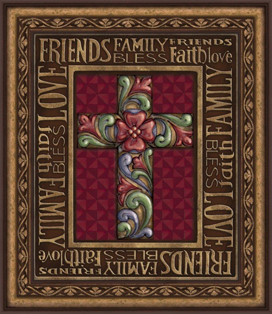 Jim Shore Design Blessings Cross Framed Wall Art, 22 Inch by Jim Shore Design