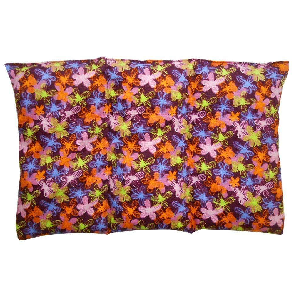 """Saco o cojín térmico """"Florecillas"""" – 26 X 16 cm (M/L) – relleno con 330gr de huesos de cereza - efecto frío/calor"""