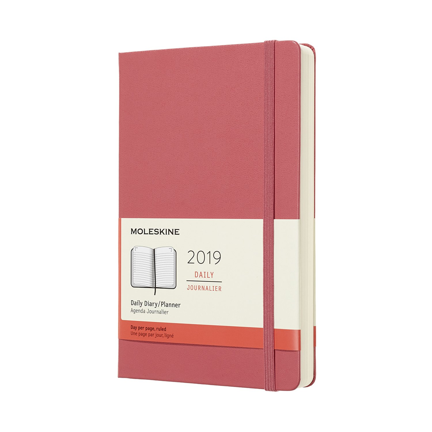 Moleskine 2019 12M Daily Large Daisy, Large, Daily, Pink Daisy, Hard Cover (5 x 8.25) DHD1112DC3Y19 NON-CLASSIFIABLE