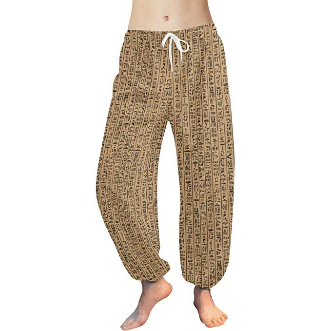 Lumos3DPrint Egyptian Decor Womens Yoga Harem Pants at ...