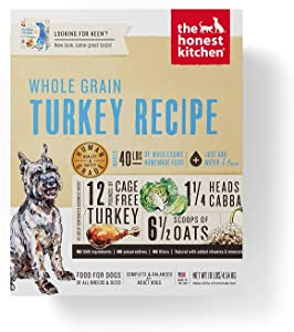 Best Non-GMO Dog Food – Honest Kitchen Whole Grain Turkey Recipe