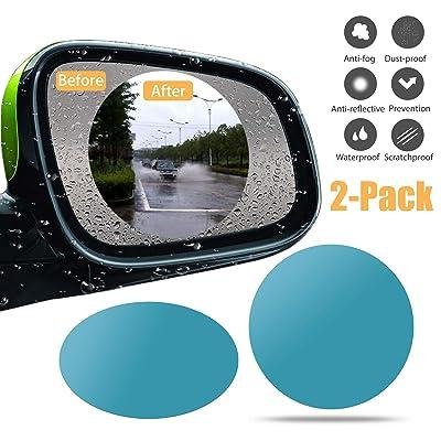 PRETTYGAGA Anti Fog Film Car Rear View Mirror Waterproof Film Protective Film Anti Glare Rain Pack of 2 (9595): Automotive