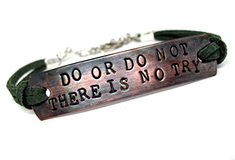Amazoncom Do Or Do Not There Is No Try Id Style Hand Stamped