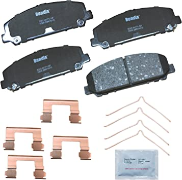 Wagner QuickStop ZD1286 Ceramic Disc Pad Set Includes Pad Installation Hardware Front