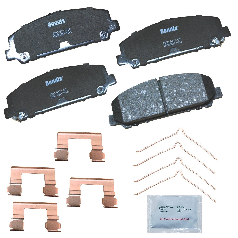 with Installation Hardware Front Bendix CFC1509 Premium Copper Free Ceramic Brake Pad