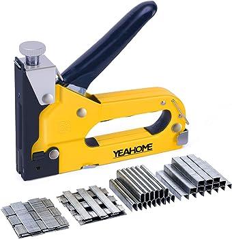 Yeahome Upholstery Gun Heavy Duty 4-in-1 Stapler