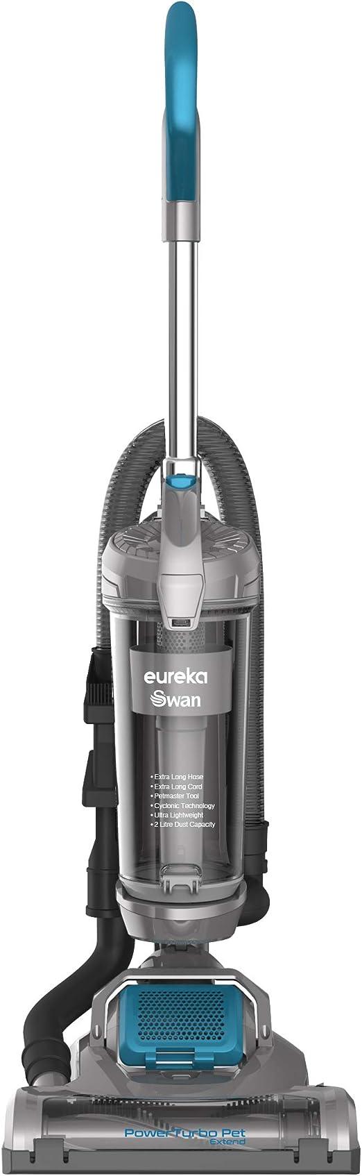 Swan TurboPower Pet Extend Upright Vacuum, Ultra Lightweight, 3L Capacity, 400 Motor, 9.3m Power Cord, 2m Hose, Detachable Handle, Energy Class A++,