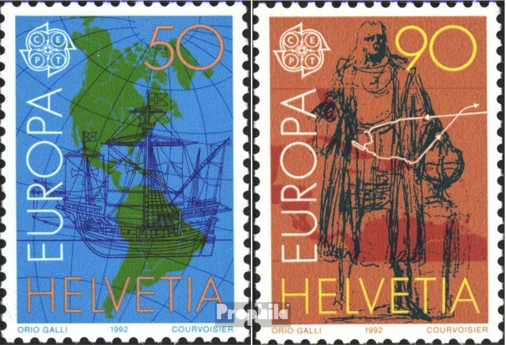1992 Commerce en Europe Suisse 1468-1469 Timbres pour Les collectionneurs compl/ète.Edition.