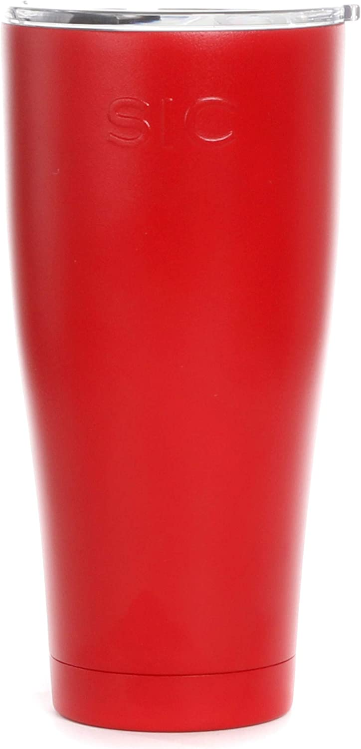 Seriously Ice Cold SIC 30 Oz. Double Wall Vacuum Insulated 18/8 Stainless Steel Travel Tumbler Mug | Powder Coated with Splash Proof BPA Free Lid | Coffee, Tea, Wine, and Cocktails