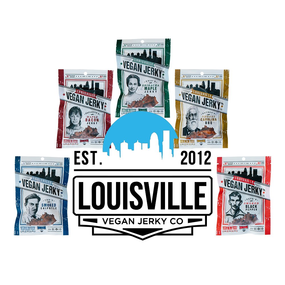 Louisville Vegan Jerky - Maple Bacon, Vegetarian and Vegan Friendly Jerky, 21 Grams of Non-GMO Soy Protein, Gluten-Free Ingredients (Pack of 10, 3 Ounces)