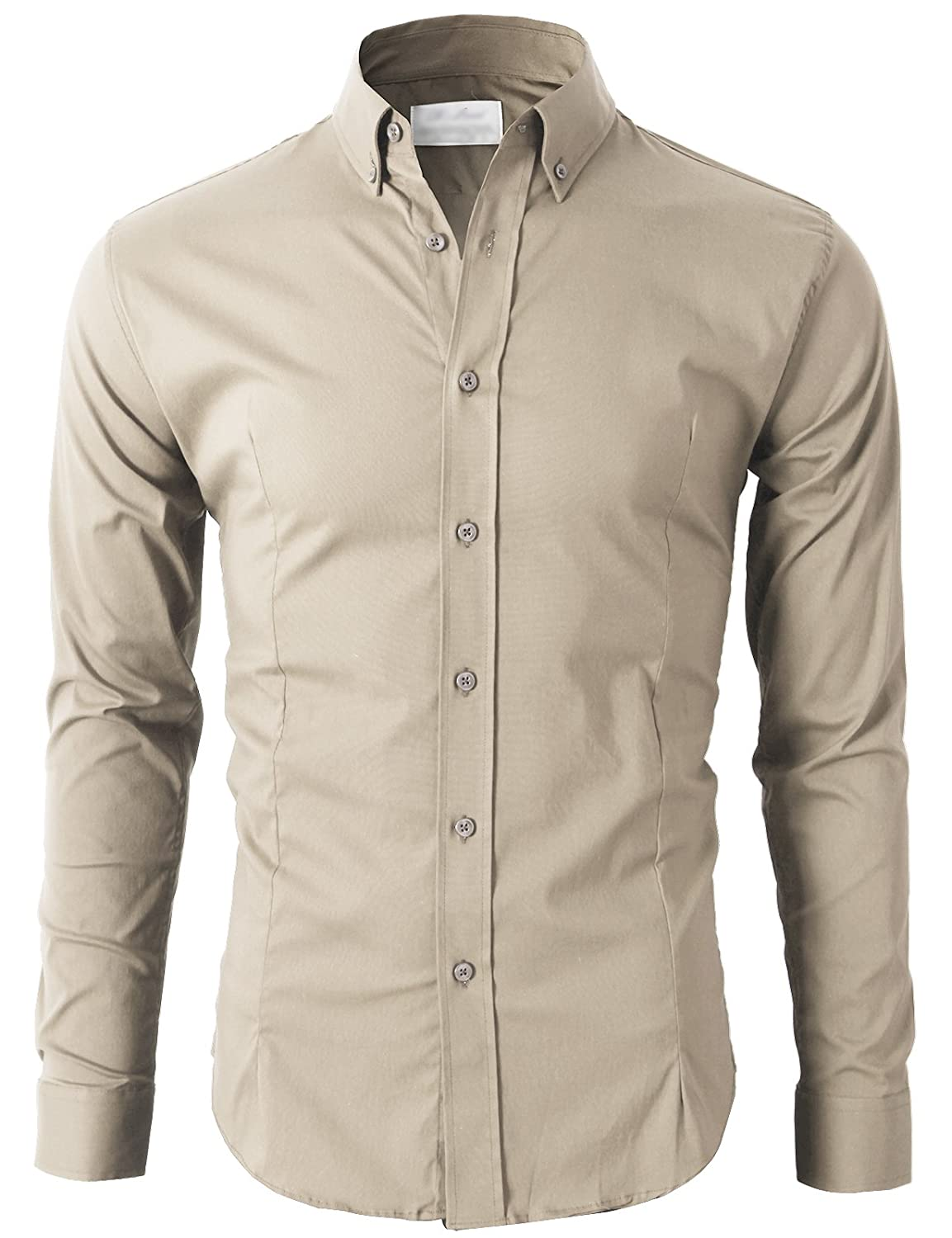 H2h Mens Casual Slim Fit Button Down Dress Shirts Various Styles At