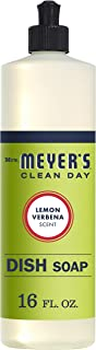 product image for Mrs. Meyer's Clean Day Liquid Dish Soap, Cruelty Free Formula, Lemon Verbena Scent, 16 oz