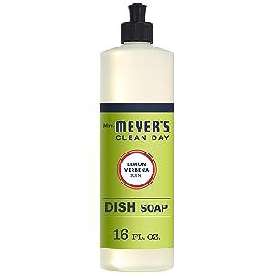 Mrs. Meyer's Clean Day Liquid Dish Soap, Lemon Verbena, 16 ounce bottle