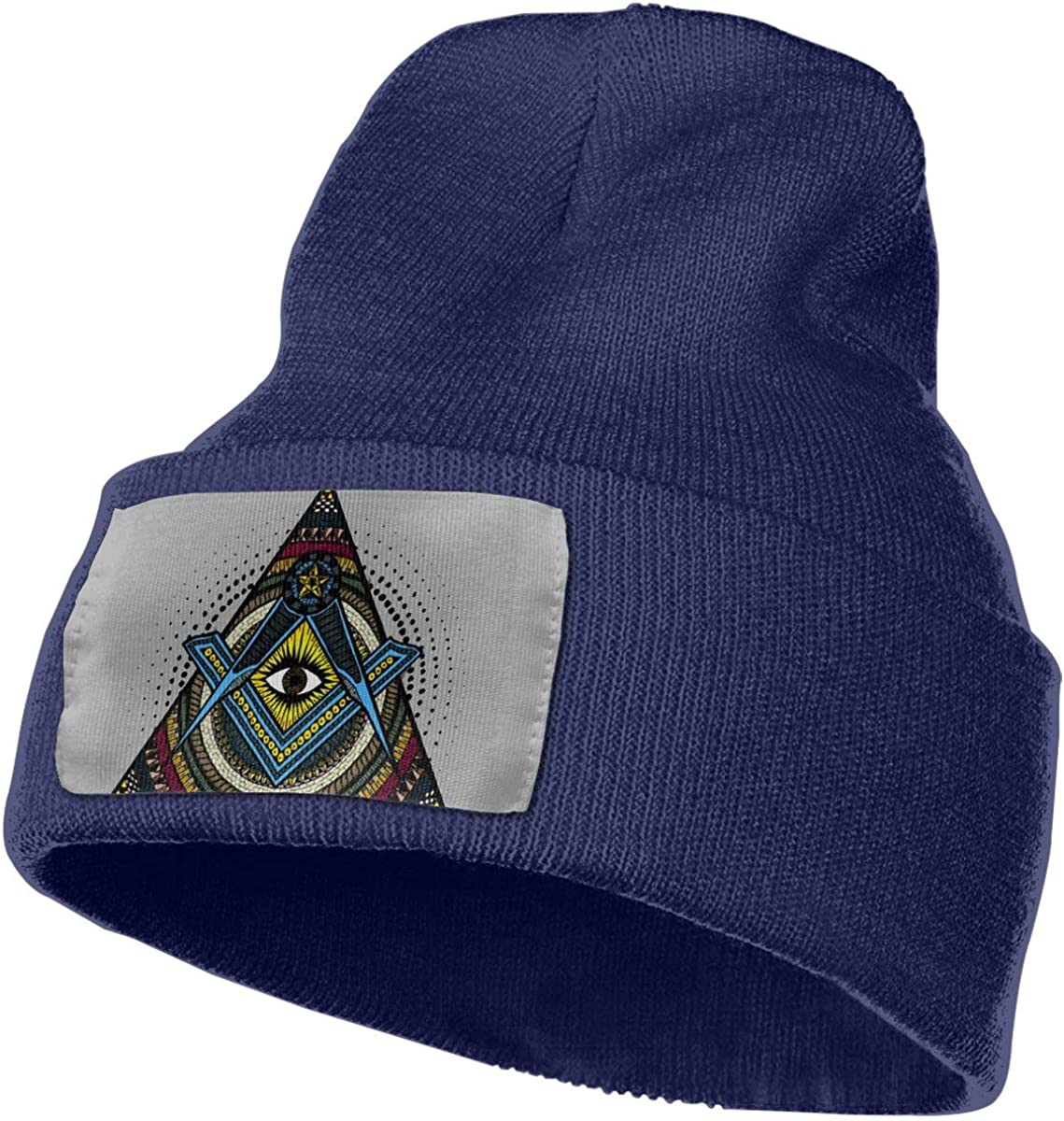 JimHappy Free-Mason Eyes Winter Warm Hats,Knit Slouchy Thick Skull Cap Black