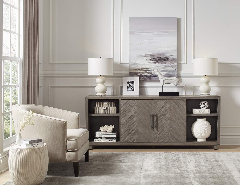 "Martin Furniture IMPA381 80"" Two Door Console, Gray"
