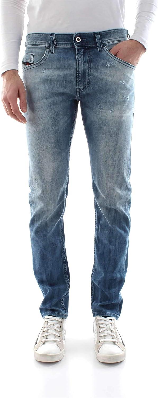 Diesel Thommer Mens 38W x 32L Slim Fit Skinny Stretch Denim Jeans in Medium Blue 081AS Distressed