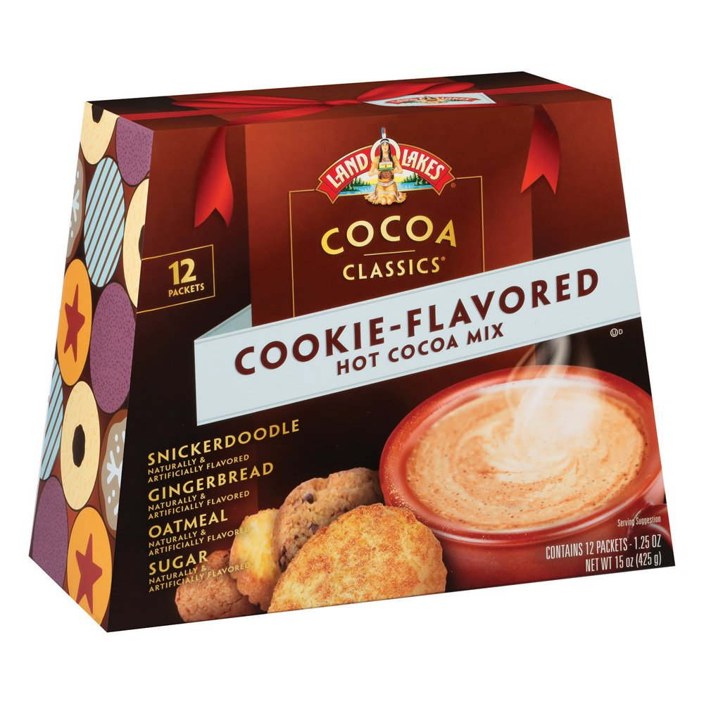Land O Lakes Cocoa Classics, Cookie Hot Cocoa Mix Variety Pack, 1.25-Ounce Packets (Pack of 12)