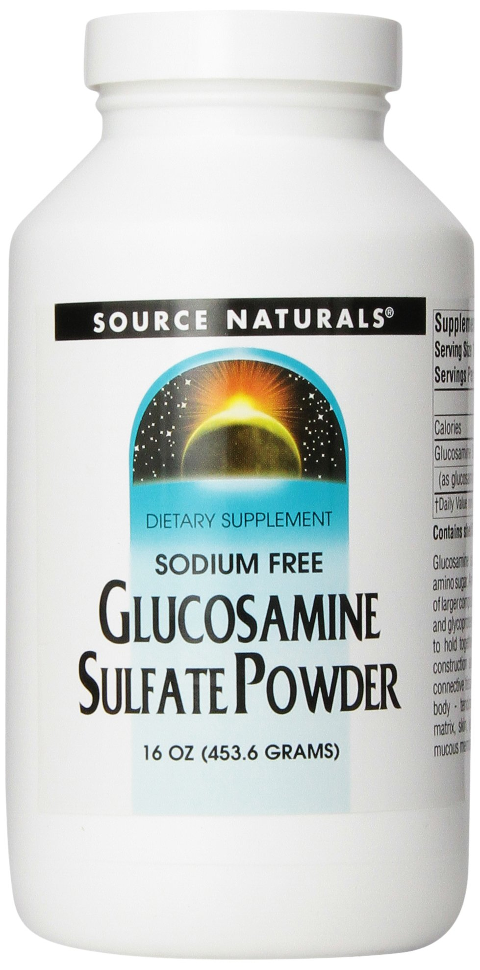 Source Naturals Glucosamine Sulfate Powder, The Nutritional Building Block of Healthy Cartilage, 16 Ounces by Source Naturals
