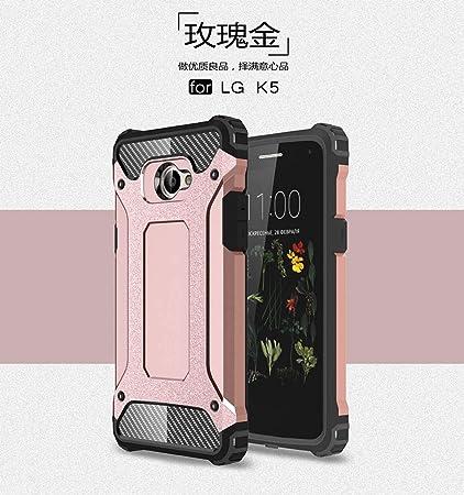 YFXP Funda + Protector de Pantalla para LG K5, protección ...