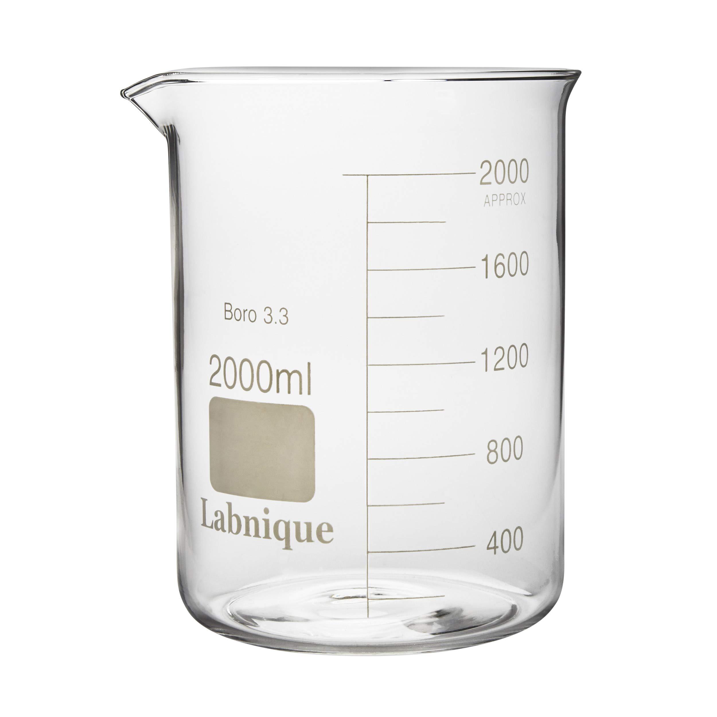 Glass Beaker, Low Form, 2000ml