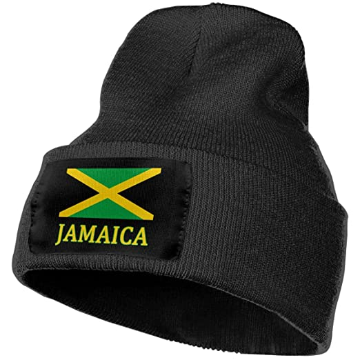 Yuyuy Adult Skull Caps Jamaican Flag Warm Knit Beanie Hat at Amazon ... 42b57ef5a6a