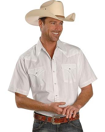 af3294f7573 ELY CATTLEMAN Men s Tonal Dobby Striped Western Shirt - 15201634Rg ...