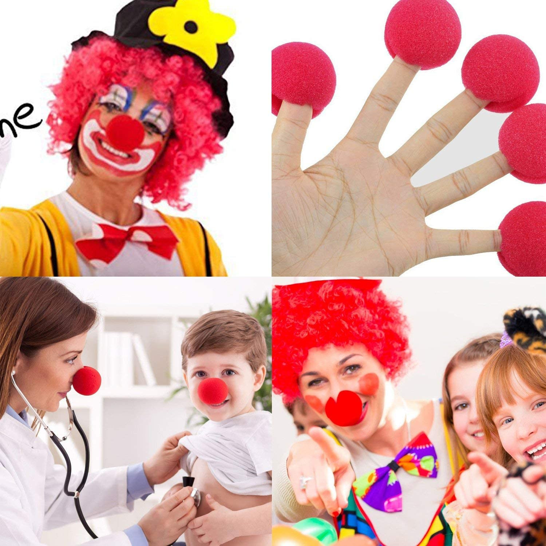 dancepandas Clown-Nase 50 x Rote Nase Schaumstoff Nase f/ür Fasching Karneval oder andere Mottopartys Red Nose Day Party