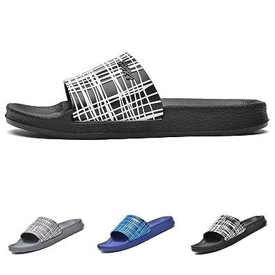 7fdb503b4 PHILDA Men s Slide Sandals Athletic Slippers Shower Shoes Sport Slip On  Beach Shoe Flip Flop Flats
