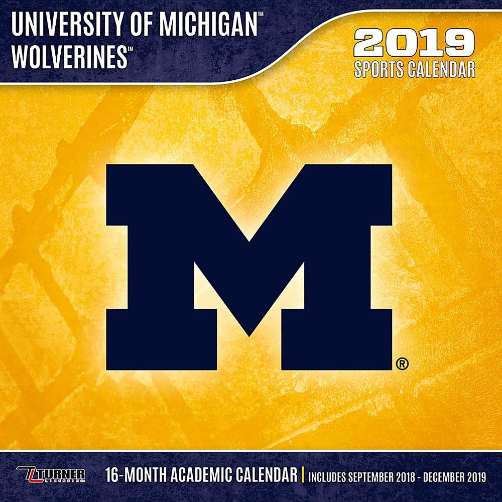 University Of Michigan Calendar 2019 University of Michigan Wolverines 2019 Calendar: Inc. Lang