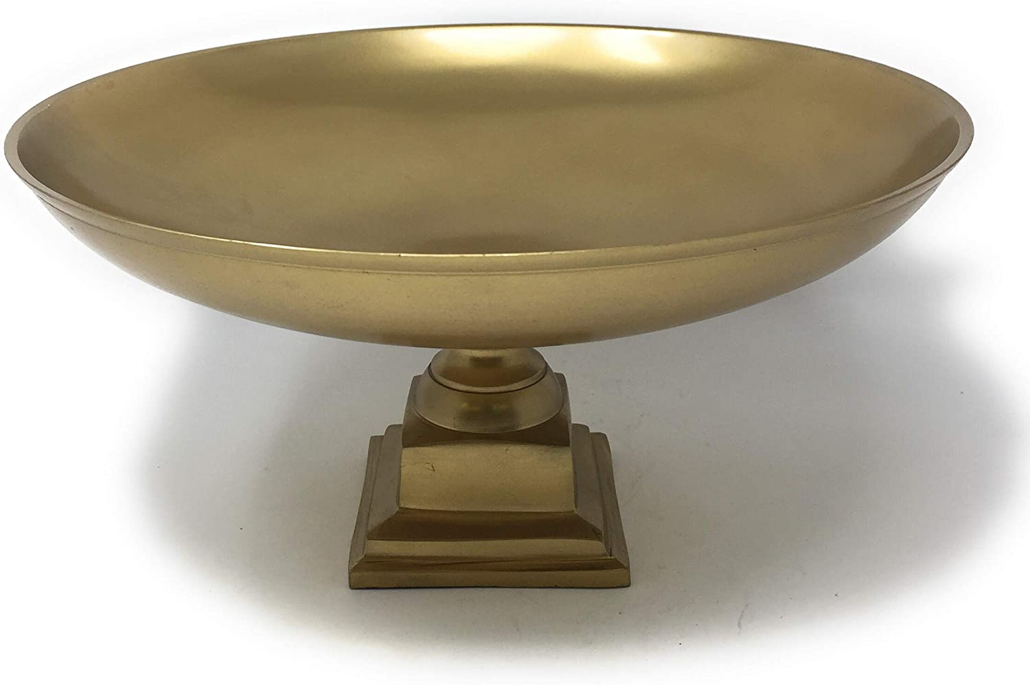 "Serene Spaces Living Gold Pedestal Bowl - Add Fruit or Treats for a Table Centerpiece with Rich Gold Color, Ideal for Home Decor, Weddings, Parties, Events, Measures 10.75"" Diameter &5.75"" Tall"