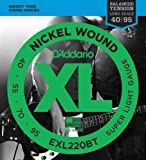 D\'Addario EXL220BT Nickel Wound Bass Guitar Strings, Balanced Tension Super Light, 40-95