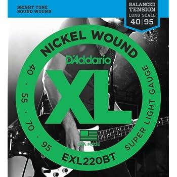 d 39 addario exl220bt nickel wound bass guitar strings balanced tension super light. Black Bedroom Furniture Sets. Home Design Ideas