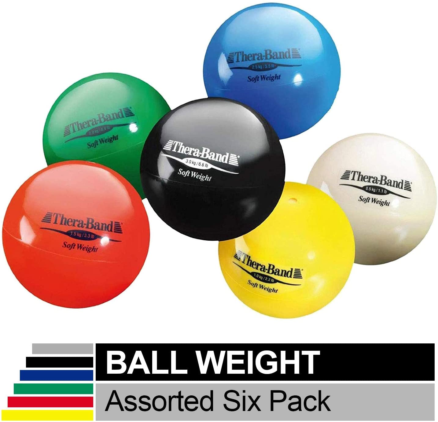 Strength Training and Rehab Exercises 4.5 Diameter Hand Held Ball Shaped Isotonic Weighted Ball for Isometric Workouts Shoulder Strengthening and Surgery Rehabilitation TheraBand Soft Weight