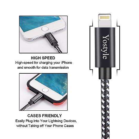 Amazon.com: Yostyle - Cable cargador de teléfono de nailon ...