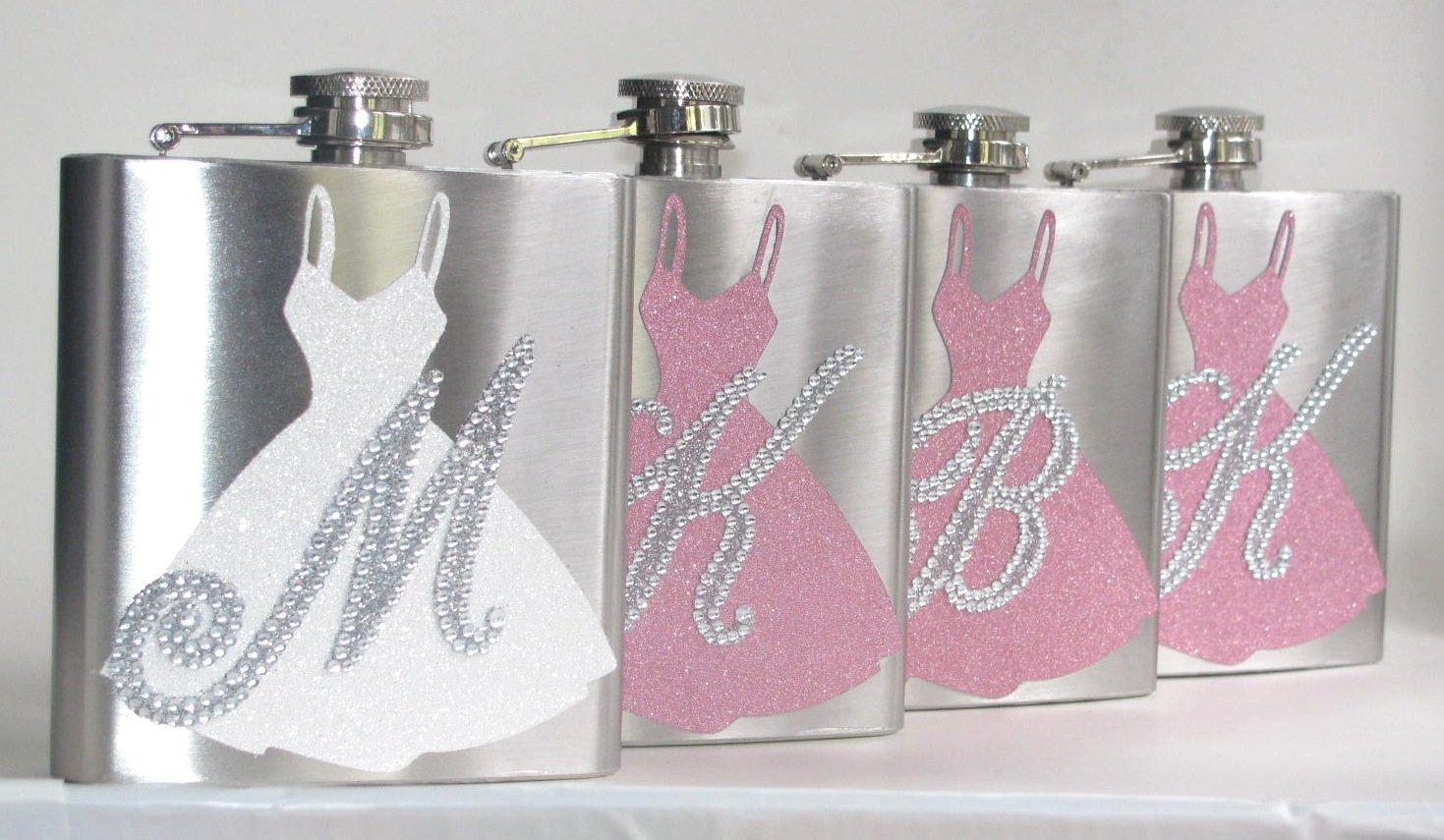 【ラッピング無料】 6色をPick 6色をPick FlasksはPersonalizedウェディング花嫁のブライドメイドグリッターキラキラBling 6オンスステンレス鋼酒ヒップフラスコギフト B01BXQ17D8, タナカスポーツ:218b0271 --- portfolio.studioalex.nl