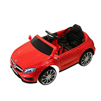 7de312b7147 Qaba 6V Kids Licensed Mercedes Benz Ride On Car Toy Battery Powered  High Low Speed with Headlight Music and Remote Control Red  Amazon.ca  Toys    Games