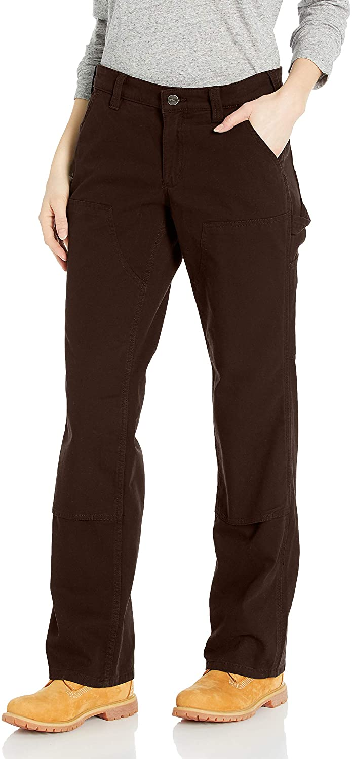 Carhartt Women's Original Year-end annual account Fit Superior Double Pant Front Crawford