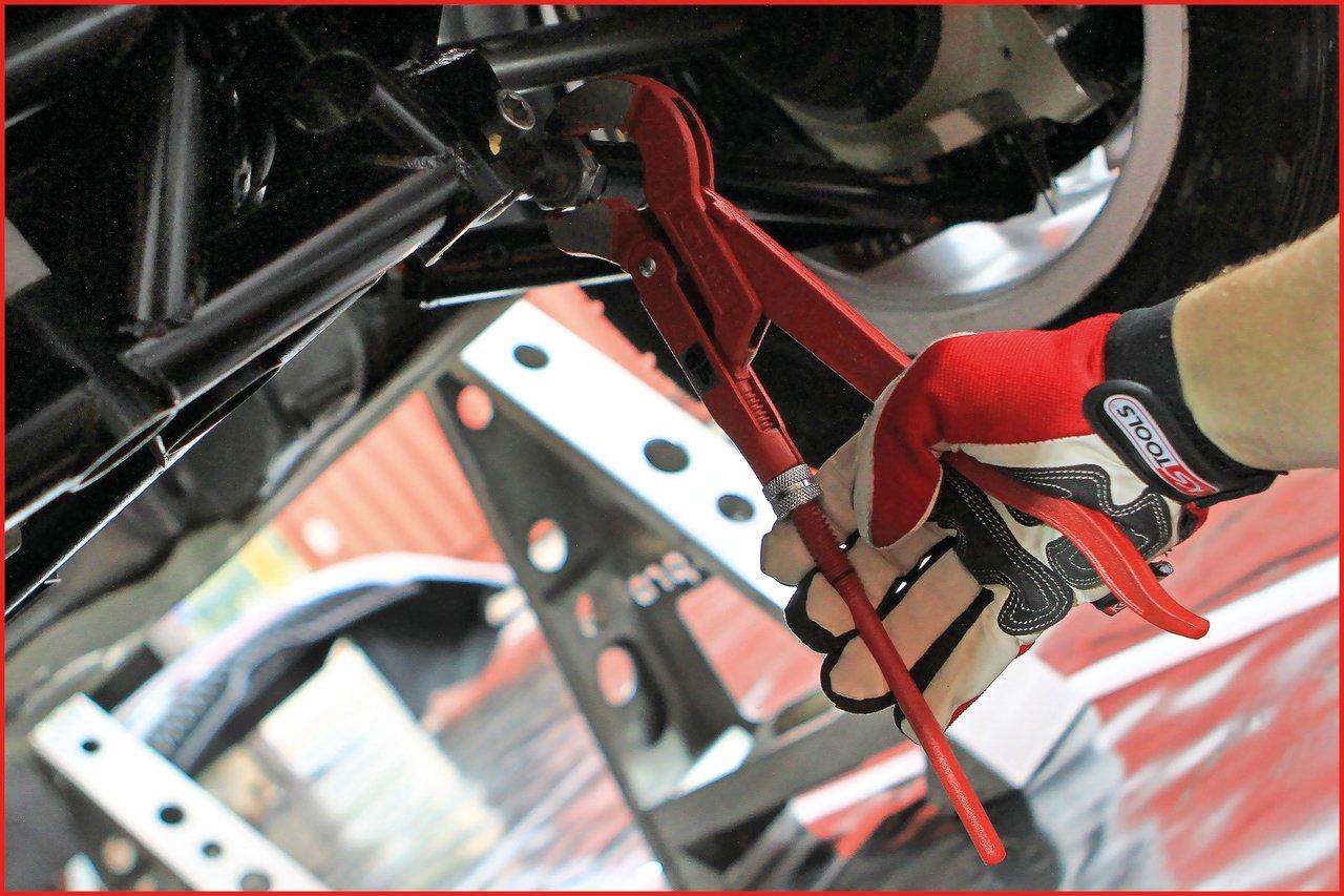 KS Tools 113.1500 45/° gewinkelte Eckrohrzange 1.1//2